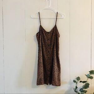 LIKE NEW H&M Animal Print Button-Down Dress